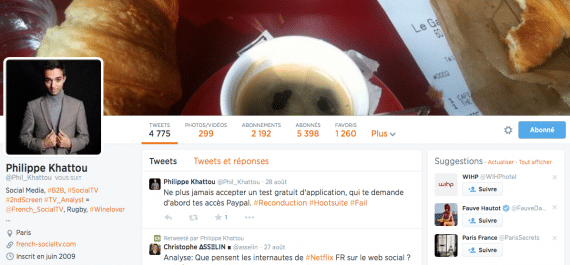 Profil Twitter Phil Khattou