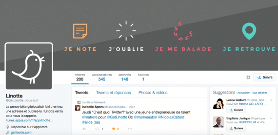 Profil Twitter get Linotte
