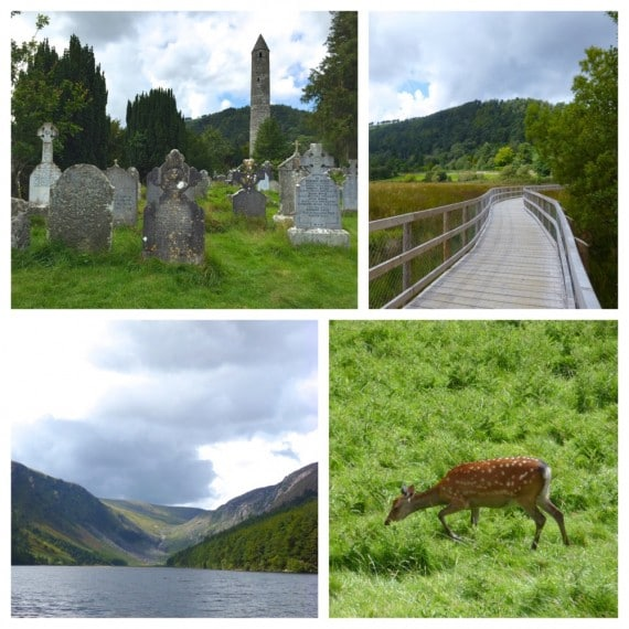 Glendalough wicklow mountains irlande