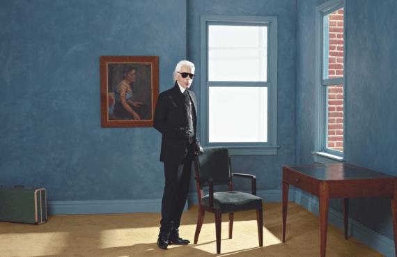 Karl Lagerfeld Autoportrait, New York 2011 • Impression jet d'encre couleur sur papier Fabriano 50 x 70 cm © 2015 Karl Lagerfeld