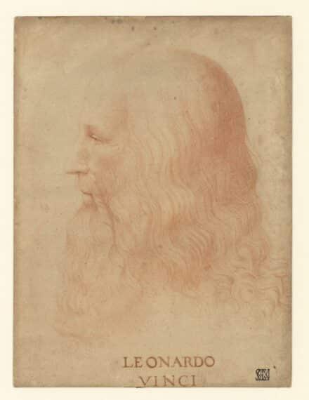 Marco d'Oggiono Portrait de Léonard de Vinci c. 1515 • Sanguine sur papier • 317 x 237 mm Veneranda Biblioteca Ambrosiana, Milan, CA f. 263