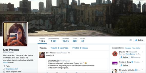 Profil Twitter Mise Pressac