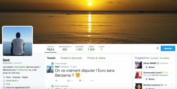 Profil Twitter Sad El abadi
