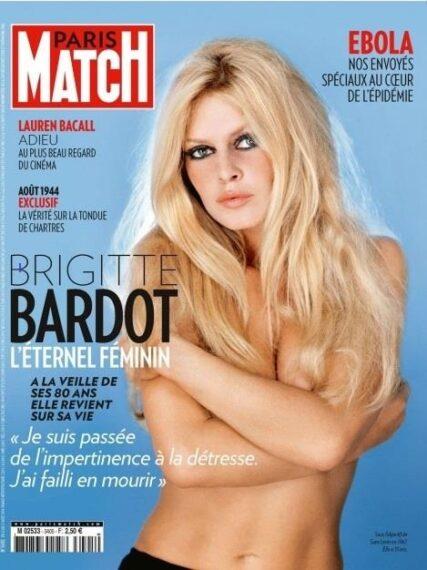 """Brigitte Bardot, """"la petite fiancée"""" de Paris Match"""