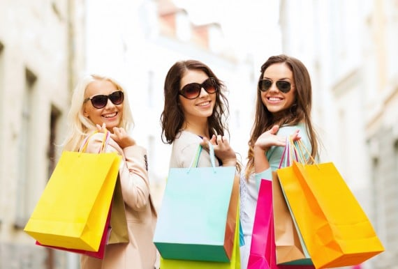 Shopping-Trio-Having-Fun