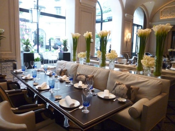 Restaurant Le george Four seasons paris 11