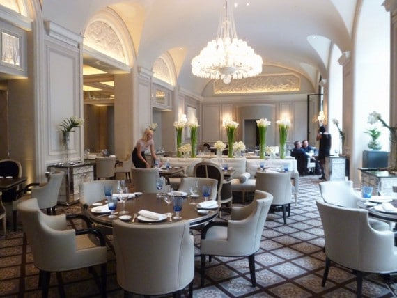 Restaurant Le george Four seasons paris 14