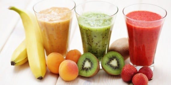 various fruity shakes with fresh fruits - food and drink; Shutterstock ID 129703085; PO: aol; Job: production; Client: drone